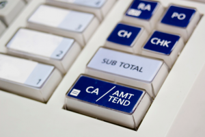 Cash register buttons